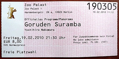 """Nichts für Zuspätkommende: Nakamura Yoshihiros """"Goruden Suramba"""""""
