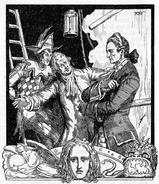 Franz Stassen: Vorspiel auf dem Theater