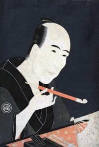 Portrait des Gesaku-Schriftstellers Santō Kyōden 山東京伝 durch Chōkyūsai Eiri 鳥橋斎栄里