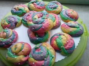 Einhorn-Kaka-Kekse (mit Dank an Melanie)